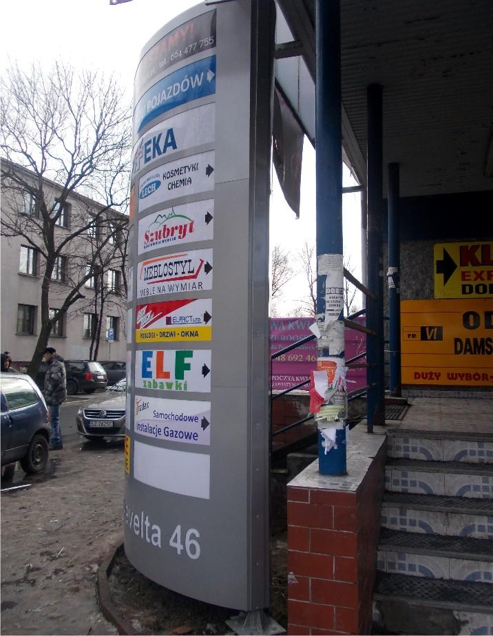 pylon reklamowy plexi